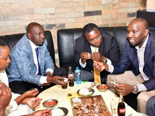 KOT attack Murkomen, Ruto for enjoying 'nyama' as Kenyans starve