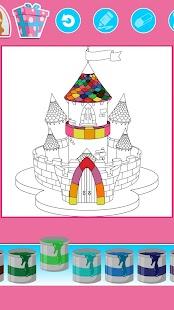 princezna zbarvení pro děti - náhled