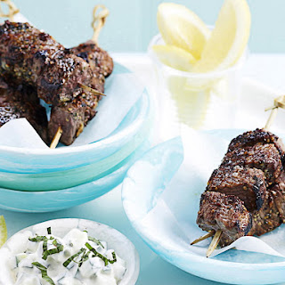 Honey and Mint Lamb Skewers with Tzatziki
