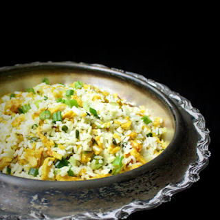 "Vegan Indo Chinese ""Egg"" Fried Rice."