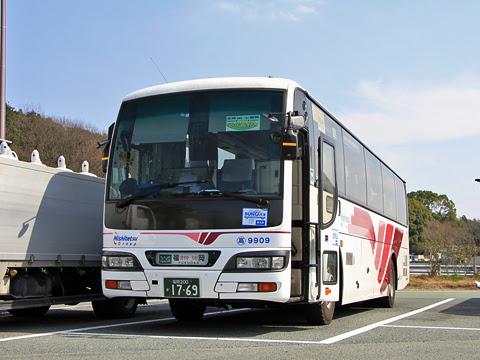 西鉄高速バス「フェニックス号」 9909 北熊本SAにて_03