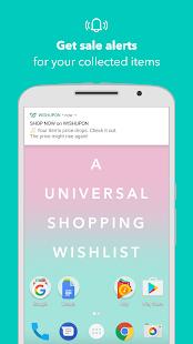 WISHUPON - A Universal Shopping Wishlist - náhled