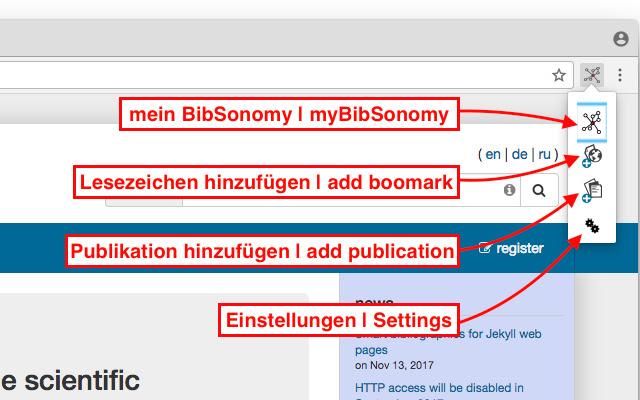 BibSonomy Buttons
