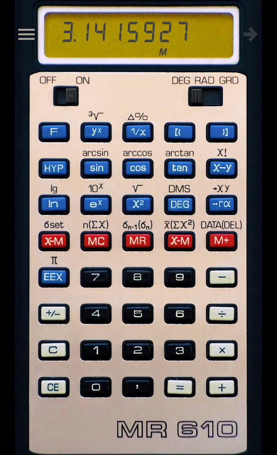 Calculator MR 610- screenshot