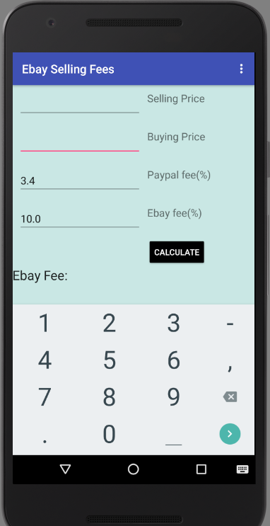 Seller Fees Calculator- screenshot