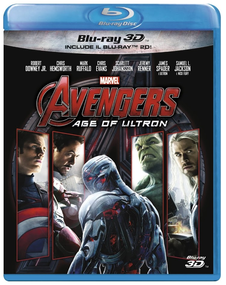avengers age of ultron bluray 3d