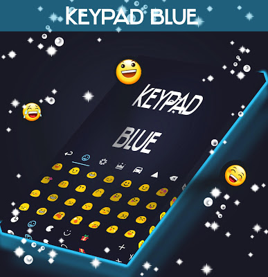 Keypad Blue Type - screenshot