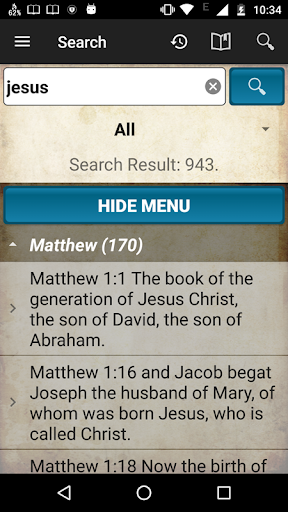 Holy Bible King James Version screenshot 6