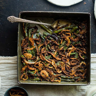 Green Bean and Mushroom Casserole [Vegan, Gluten-Free, Paleo]