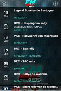 FM rally APP - náhled