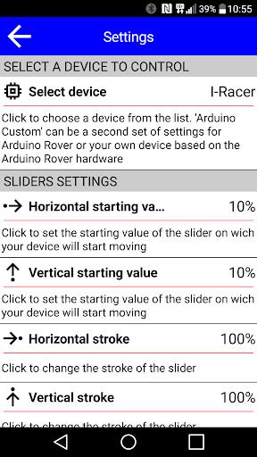 Arduino & IRacer Bt controller screenshot 4