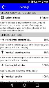 IRacer & Arduino BT controller screenshot 3