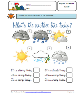 weather worksheet: NEW 683 BOGGLESWORLDESL WEATHER WORKSHEETS