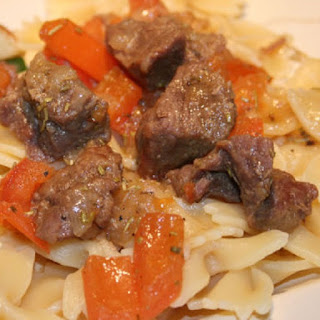 Beef,Tomatoes and Noodles in Slow Cooker