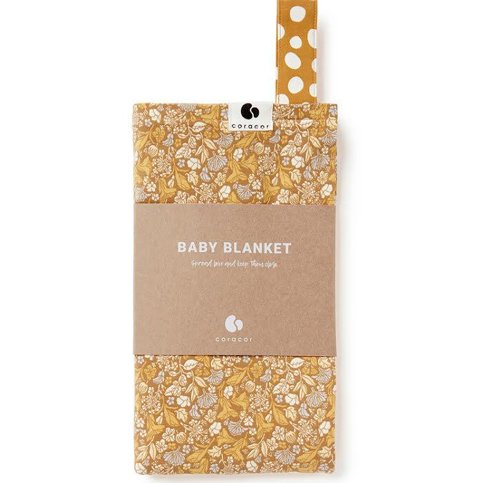 Coracor Tinyflower Honey Babyfilt