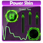Green fire Poweramp Skin