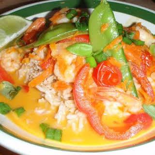 Thai Shrimp Curry.