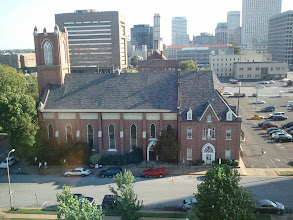 Photo: View from our hotel window. St. Mary's Catholic Church is in foreground