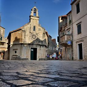 St Ivan (St. John) by Filip Caric - City,  Street & Park  Historic Districts ( jelsa hvar croatia church )