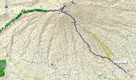 岩木山 登山コース地図
