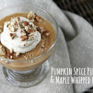 Homemade Pumpkin Spice Pudding with Maple Whipped Cream