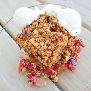 Instant Oatmeal Cranberry Apple Crisp