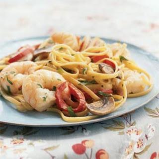 Creamy Cajun Shrimp Linguine
