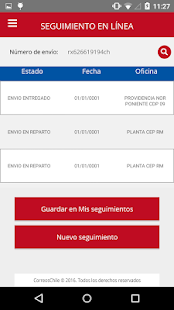 Correos de Chile Screenshot