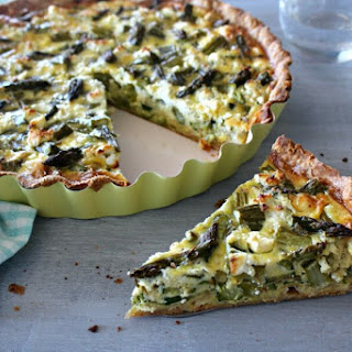 Asparagus Courgette & Goats Cheese Quiche.