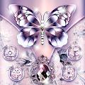 Purple Diamond Silk Butterfly Theme