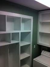 Photo: All done!!!! I finished by painting the entire laundry room and puting two coats of white semi-gloss up.