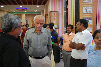 Photo: Babu discussing, Sundara Chozhan, Abbas, Venkatesh and Sweta