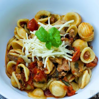 Staci's Orecchiette with Fresh Tomatoes and Sausage