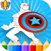 🇺🇸 Super-Hero Coloring