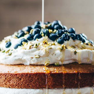Blueberry Orange Brunch Cake with Agave and Pistachios Recipe