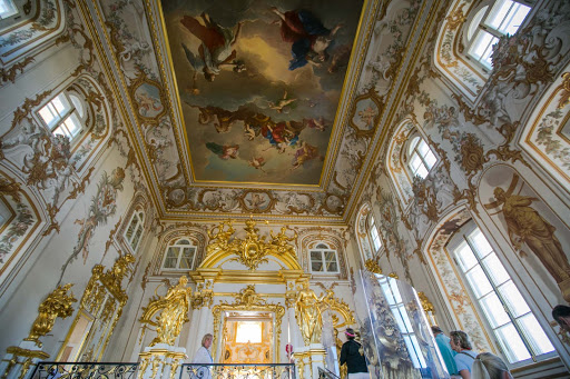 Peterhof-Palace-ceiling.jpg - The restored ceiling of Peterhof Palace near St. Petersburg, Russia.