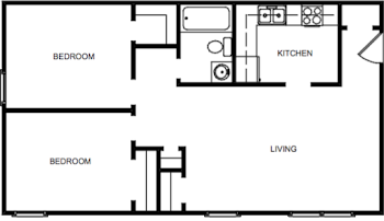 Go to Two Bedroom Deluxe Floorplan page.