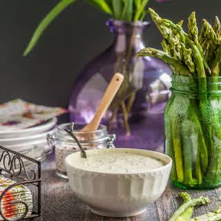 Asparagus & Green Goddess Dip (low carb snack).