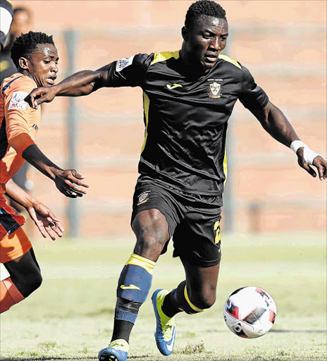 HIGH EXPECTATIONS: Arnold Anoma of Mthatha Bucks has been a star performer for his team this season, and is expected to play a key role against Highlands Park at the Mthatha Stadium this afternoon Picture: BACKPAGEPIX