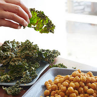 Kale Chips with Almond Butter and Miso.