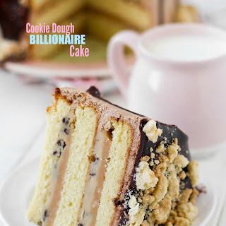 Billionaire Cookie Dough Cake.