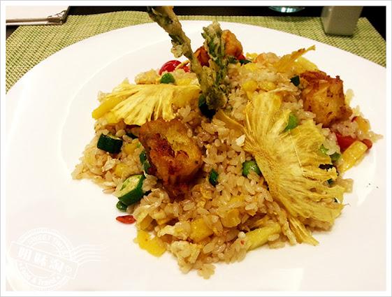 捷絲旅義泰蔬活食館棕梠鳳梨香米飯
