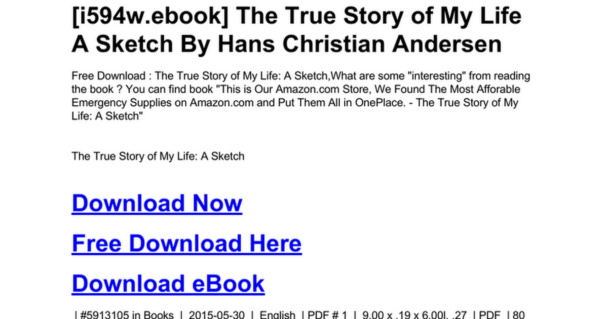 The true story of my life a sketchc google docs fandeluxe Image collections