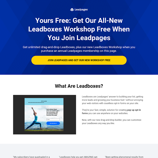 Leadboxes Feature Page