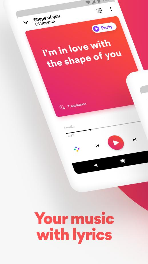 Musixmatch - Lyrics for your music Screenshot 0