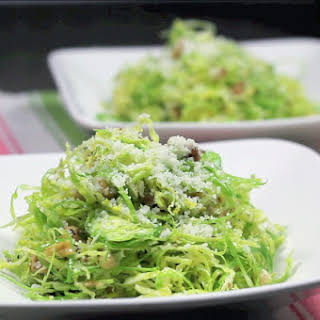 Raw Brussels Sprouts Salad.