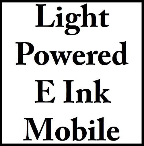 Light Powered E Ink Mobile