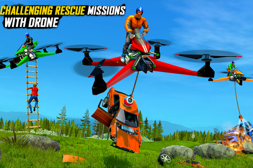 Drone Rescue Simulator: Flying Bike Transport Game android2mod screenshots 3