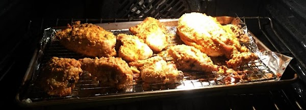Crispy - Crunchy Paleo Fried Chicken In Da Oven Recipe