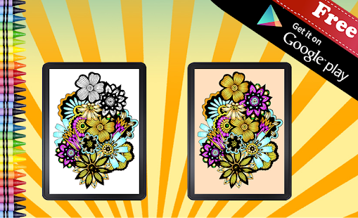 Adult Coloring Book Flowers screenshot